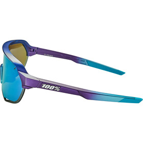 100% S2 Lunettes, matte metallic into the fade/multilayer mirror